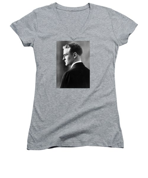 F. Scott Fitzgerald Circa 1925 Women's V-Neck T-Shirt