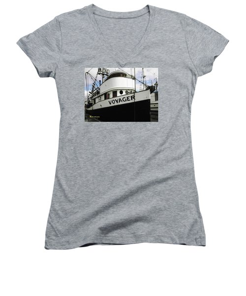 F V Voyager Women's V-Neck T-Shirt