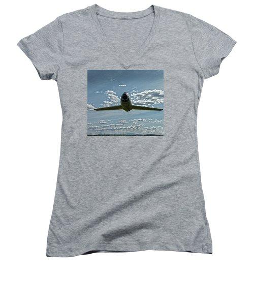 F86 Women's V-Neck T-Shirt (Junior Cut) by Diane E Berry