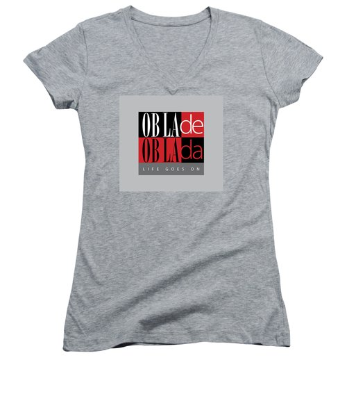 Fab Four Fave Women's V-Neck (Athletic Fit)
