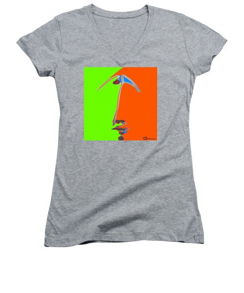 Faces 2 Women's V-Neck (Athletic Fit)