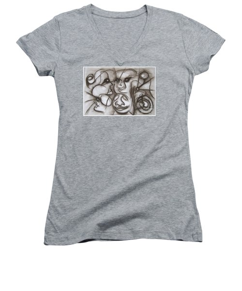 Faces And Places Women's V-Neck T-Shirt