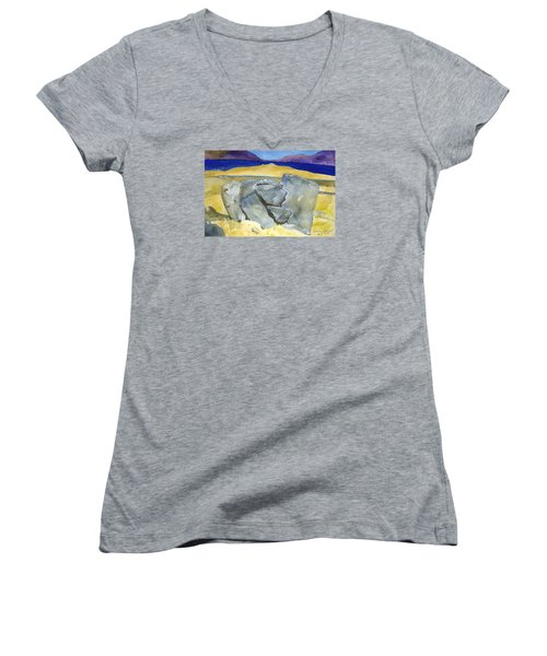 Faces Of The Rocks Women's V-Neck (Athletic Fit)