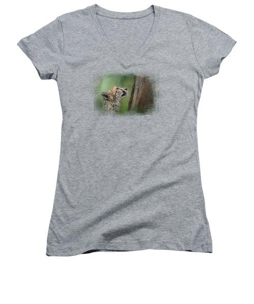 Facing Challenges Women's V-Neck T-Shirt