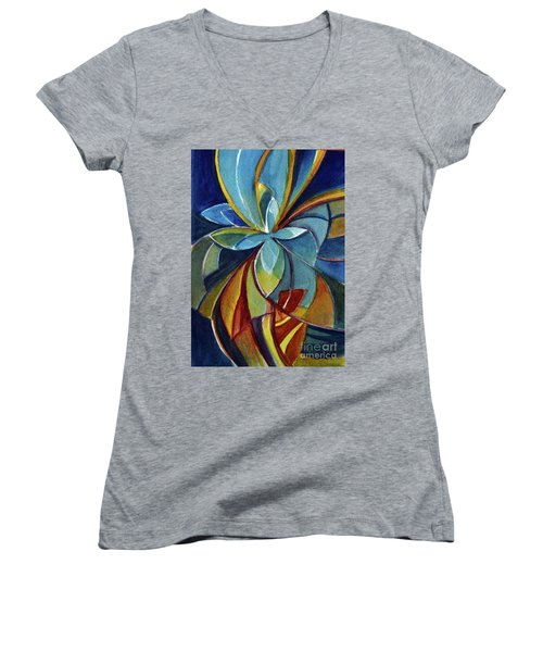Fractal Flower Women's V-Neck