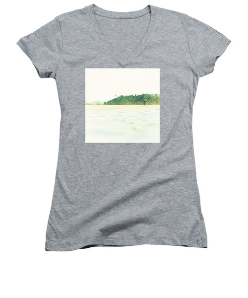 Faded Women's V-Neck (Athletic Fit)