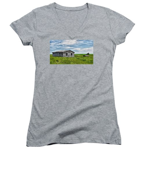 Faded Past Women's V-Neck (Athletic Fit)