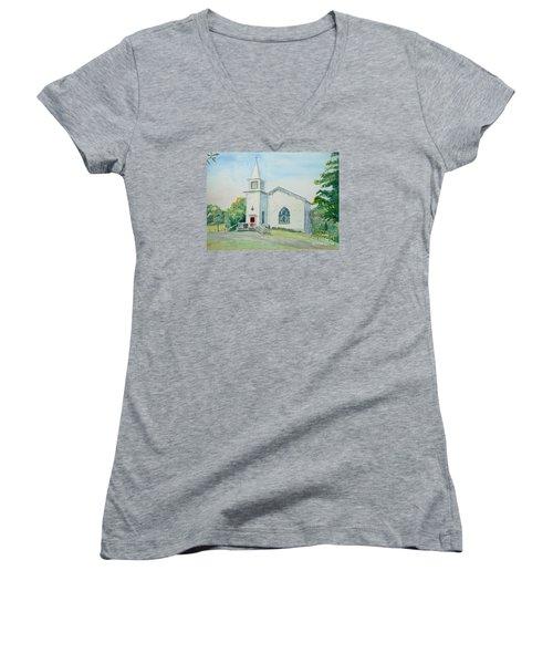 Fairdale Um Church Women's V-Neck T-Shirt