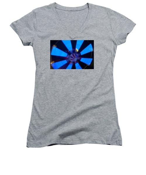 Fairground Abstract Vi Women's V-Neck T-Shirt (Junior Cut) by Helen Northcott