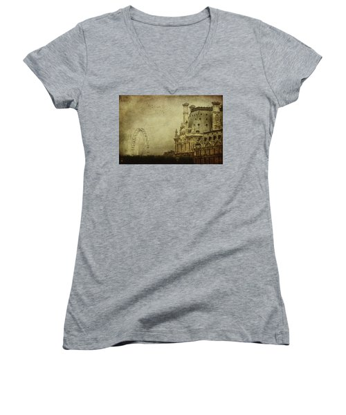 Fairground Women's V-Neck T-Shirt (Junior Cut) by Andrew Paranavitana