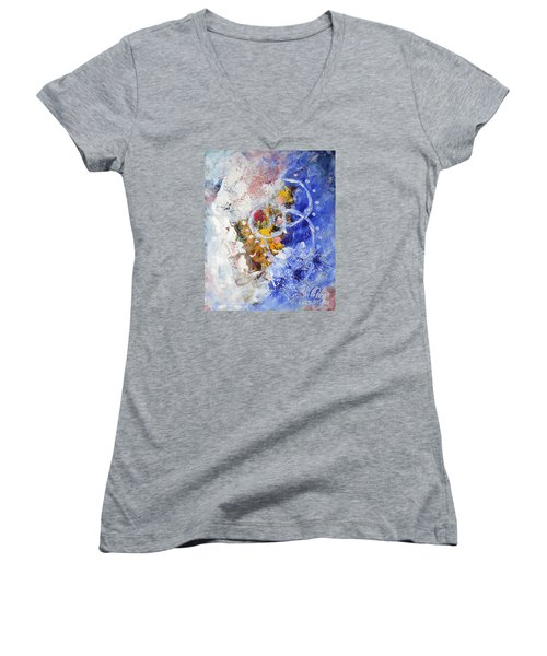 Fairground Women's V-Neck T-Shirt (Junior Cut) by Lynda Cookson