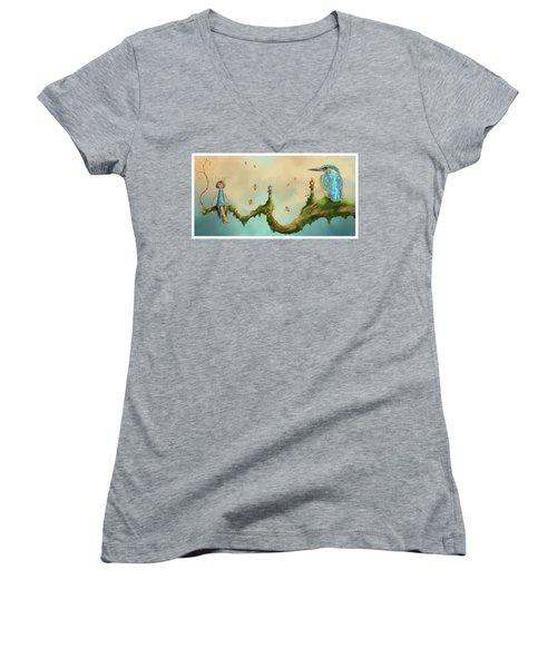 Fairy Chess Women's V-Neck T-Shirt
