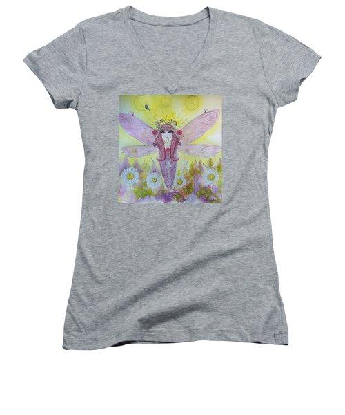 Fairy Messenger  Women's V-Neck (Athletic Fit)