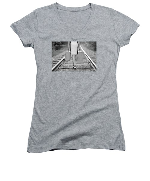 Faith In Your Journey Women's V-Neck T-Shirt (Junior Cut) by Barbara West