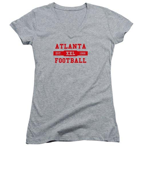 Falcons Retro Shirt Women's V-Neck T-Shirt (Junior Cut) by Joe Hamilton