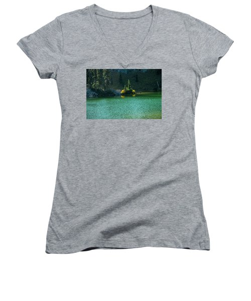 Fall Afternoon On Sheep Lake Women's V-Neck