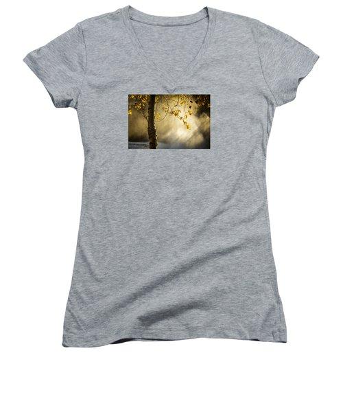 Fall And Fog Women's V-Neck T-Shirt