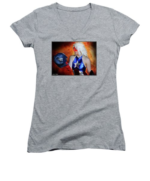 Fall And Rise Of A Hero Women's V-Neck