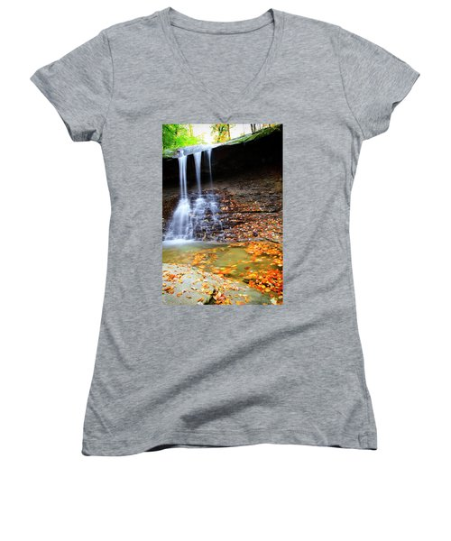 Fall At Blue Hen Falls Women's V-Neck (Athletic Fit)