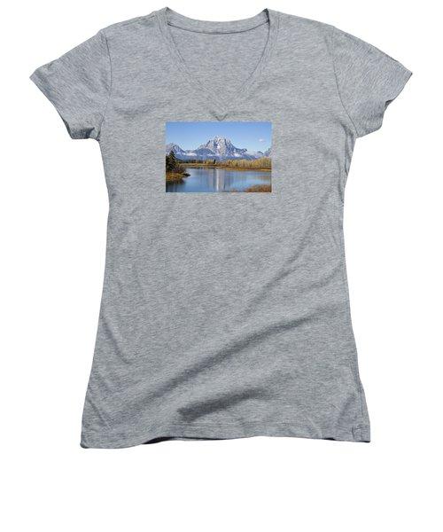 Fall At Teton -1 Women's V-Neck T-Shirt