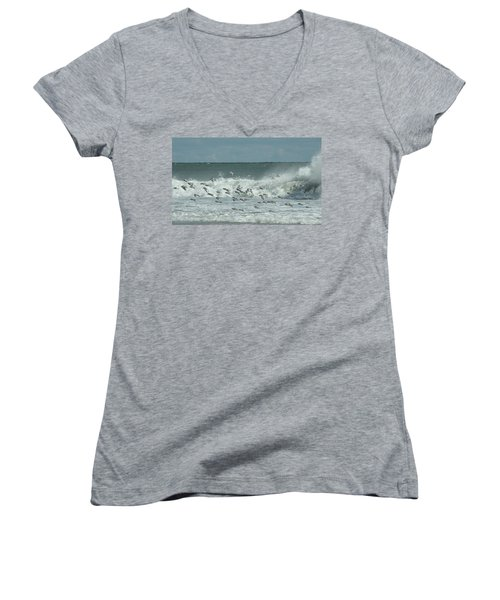 Fall At The Shore Women's V-Neck (Athletic Fit)