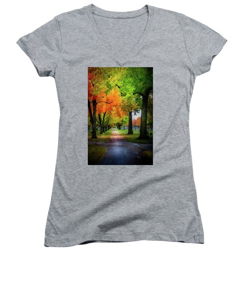 Fall Color Women's V-Neck