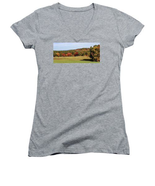 Fall Colors In Easthampton Women's V-Neck