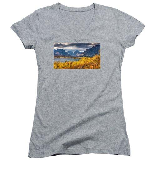 Fall Colors In Glacier National Park Women's V-Neck