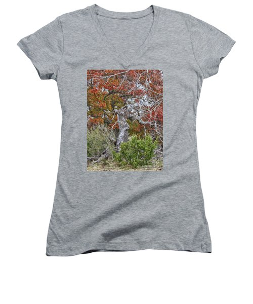 Fall Colors Once Again Women's V-Neck (Athletic Fit)