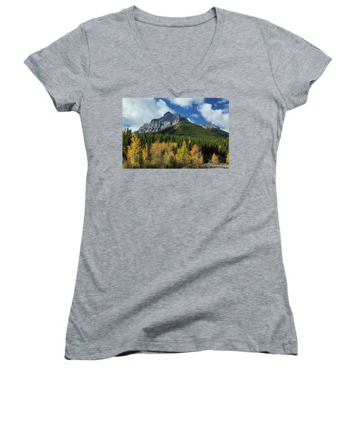 Fall In The Rockies Women's V-Neck T-Shirt