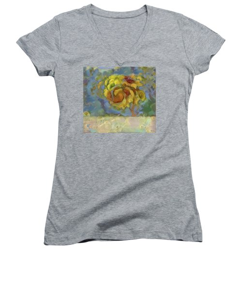 Fall Is In The Air Women's V-Neck (Athletic Fit)