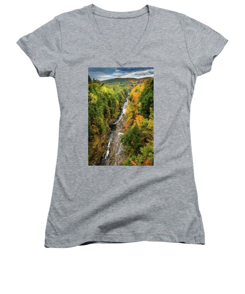 Fall Quechee Gorge, Vt Women's V-Neck