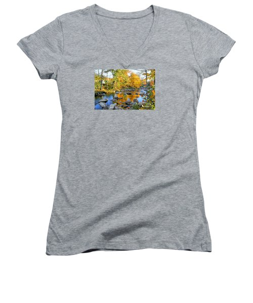 Fall Reflections In Jackson Women's V-Neck