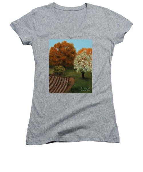 Fall Rendezvous Women's V-Neck T-Shirt