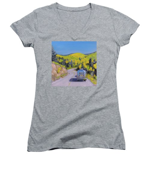 Fall Road Trip Women's V-Neck (Athletic Fit)