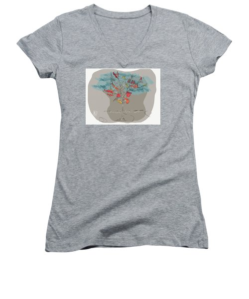 Fall To Peaces Women's V-Neck