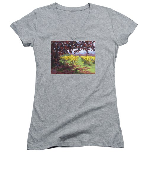 Fall Vineyard Women's V-Neck (Athletic Fit)