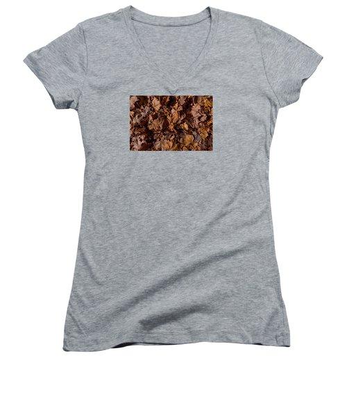 Fallen From Grace Women's V-Neck T-Shirt (Junior Cut) by Derek Dean