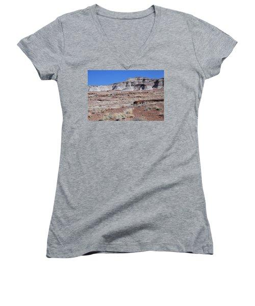 Fallen Giants Women's V-Neck T-Shirt (Junior Cut) by Gary Kaylor