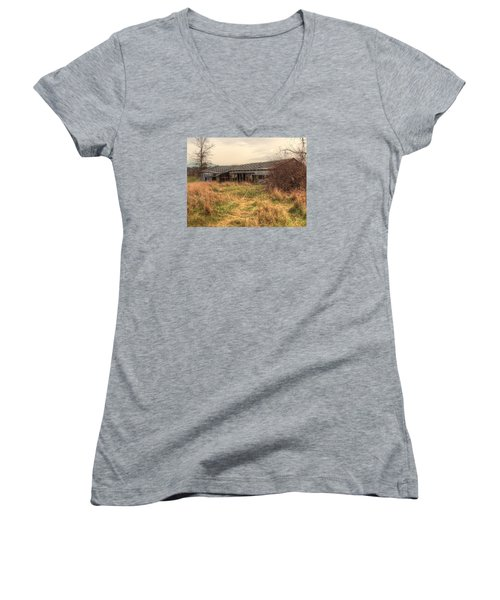 Falling Down Women's V-Neck