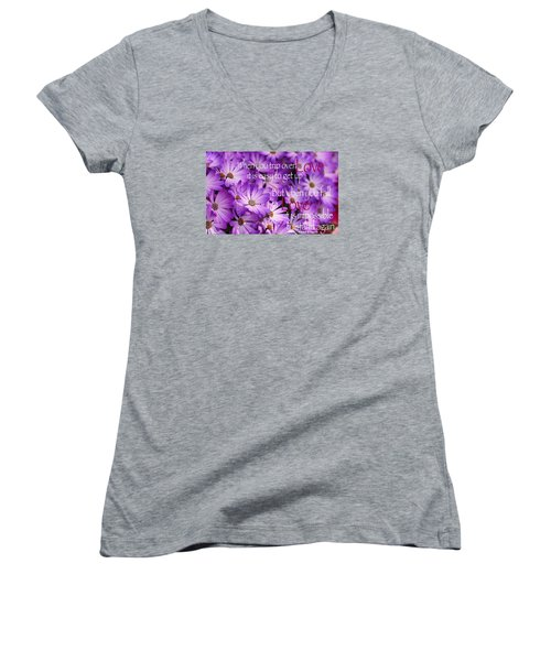 Falling First Women's V-Neck T-Shirt (Junior Cut) by David Norman