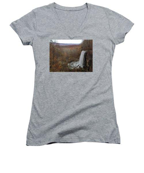 Falling Spring Falls, Va Women's V-Neck T-Shirt