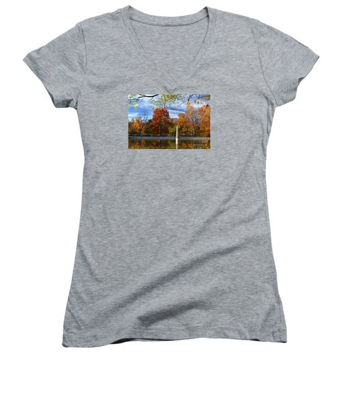 Falls Park Pond Lighthouse Women's V-Neck T-Shirt