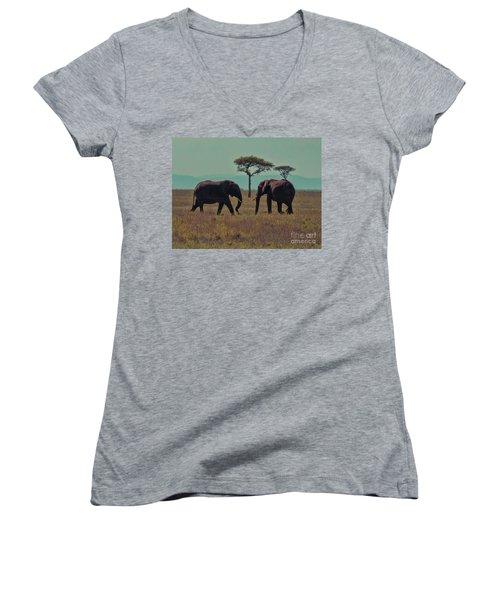 Family Women's V-Neck T-Shirt (Junior Cut) by Karen Lewis