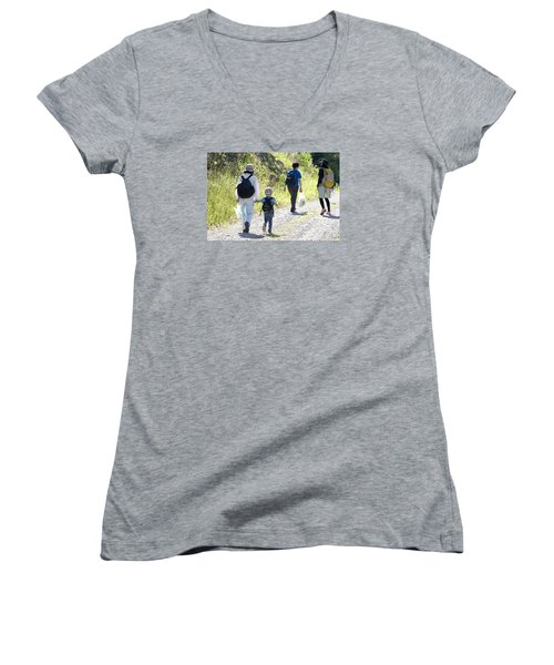 Family Walk Women's V-Neck (Athletic Fit)