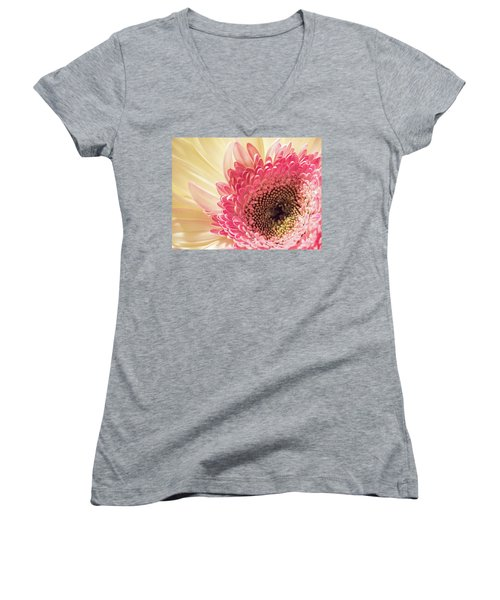 Fancy Pants Gerbera Daisy Women's V-Neck (Athletic Fit)