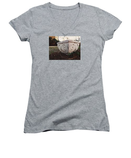 Fancy Pottery Women's V-Neck T-Shirt (Junior Cut) by Shelby Boyle