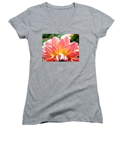 Fanned Out Petals Women's V-Neck (Athletic Fit)