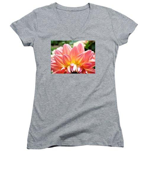 Fanned Out Petals Women's V-Neck T-Shirt