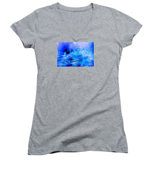Fantasy Blue Artwork Women's V-Neck (Athletic Fit)